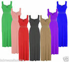 New Summer Womens Diamante Long Evening Maxi Party Dress Sleeveless plus Size