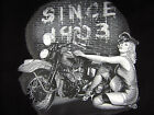 Motorcycle retro vintage Pinup Bombshell tee shirt men's black choose A size
