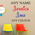 PERSONALISED DISNEY STYLE FONT BOYS GIRLS ANY NAME BEDROOM WALL ART STICKER