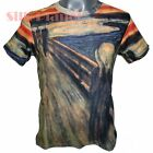 EDVARD MUNCH THE SCREAM SCARY FEAR PAINTING FINE ART PRINT MENS T SHIRT UNISEX *