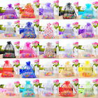 100PCS Organza Wedding Gift Bags Jewelry Pouches 9x12cm
