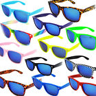 New Wayfarer Sunglasses Blue Mirror Vintage Retro Classic Mens Womens Aviator