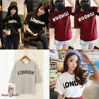 Fashion Style Women Girls Loose Top Blouse Short Sleeve Letters Print  T-shirt