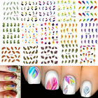 Colorful Feather Nail Decals Water Transfer Stickers Decoration DIY Shape Hot