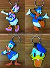 Lot Mixed Donald Duck Double sided Rubber Key rings Key Chain Party Gifts S25