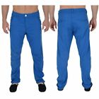 BNWT Twisted Faith Twisted Faith Mens Designer Slim Fit Chinos Electric Blue All