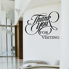 THANK YOU FOR VISITING Wall Art Sticker Transfer Shop Cafe Beauty Salon Decal