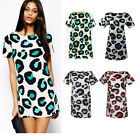 New Fashion Women Sexy Leopard Summer Casual Cocktail Party Mini Dress