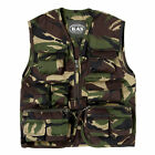 Kids Army Camouflage Multi Pocket Vest Camo - Fits Ages 3-13 Years
