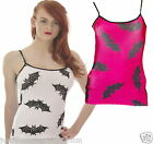 STRAPPY VEST TOP BATS  GOTH EMO ALTERNATIVE