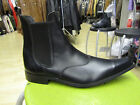 Mens Black Leather Winkle Picker Chelsea Boots Slip On