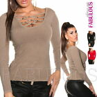 Sexy Womens Jumper Sweater Knit Top Pullover S M L Size 10 12 8 US Size 4 6 8