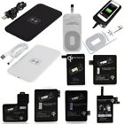Qi Wireless Charger Charging Pad + Receiver Kit + Adapter for iPhone & Samsung