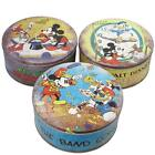 Vintage Disney Mickey Mouse Round Tin with Lid 20cm 3 Colours Blue Grey Yellow