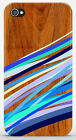 Cover Case iPhone 4 4S 5 5S / Galaxy S3 S4 S5 - STAMPA LEGNO WOOD BLU - ZZ119