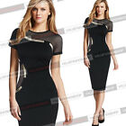 Womens Summer Sexy Mesh Patchwork Party Cocktail Evening Club Bodycon Dress 5087
