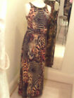 Frank Lyman Brown/Orange Leopard/Tiger Print Design Dress 53200