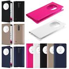 View Window PU Leather Flip Battery Cover Case For LG G3 Stylus D690N D690 D693N