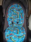 train silver cross surf pram liner harness pads foam padded turquoise red green