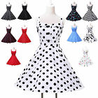 Summer Hot Vintage Style 50s swing Pinup Rockabilly Housewife Party Retro Dress