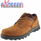 Caterpillar Mens Affront Premium Leather Chukka Shoes Tan Brown *AUTHENTIC*