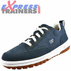 Caterpillar Mens Decade Premium Suede Leather Outdoor Trainers Navy *AUTHENTIC*