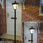 LARGE SOLAR POWERED 6 LED SECURITY LAMP POST OUTDOOR GARDEN PATIO LIGHT 2.1M