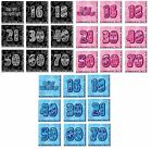 GLITZ NAPKINS Birthday Glitz Party Tableware Pink Blue Black 13th-100th