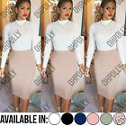 Womens Evening Sexy Bodycon Party High Waist Summer Midi Pencil Ladies Skirt
