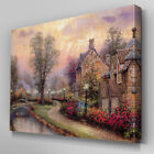 C412 Riveside House Paint Canvas Wall Art Ready to Hang Picture Print