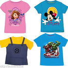 Girls Boys Official Disney & Marvel Character T Shirt Top 1 1/2 - 10 yrs T-Shirt