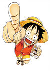 STICKER AUTOCOLLANT POSTER A4 MANGA ONE PIECE.LUFFY CHAPEAU DE PAILLE-STRAW HAT