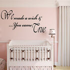 Nursery Wall Art WE MADE A WISH Baby Quote Sticker Vinyl Transfer Gift Boy Girl