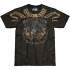 7.62 DESIGN MENS KNIGHTS OF THE BLACK RIFLE T-SHIRT PATRIOTIC MILITARY TEE BLACK