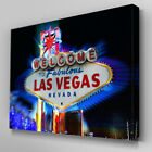 C233 Welcome to Las Vegas Sign Canvas Wall Art Ready to Hang Picture Print
