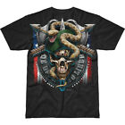 7.62 DESIGN ARMY SPECIAL FORCES GREEN BERET BATTLESPACE T-SHIRT MENS TOP BLACK