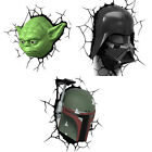 Star Wars: 3D Shaped LED Battery Wall Light - New + Official In Display Box