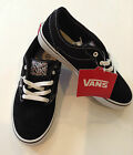 New Vans Youth Vans Atwood Skate Sneakers/Shoe Black/White Canvas/Suede Lace-Up