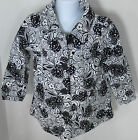 BABY GAP Girl's White & Black Floral Print Light Weight Jacket Size 4T