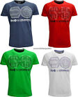 Brand New Mens Crosshatch Crew Neck T Shirt 'Dotty' Red White Indigo Green