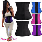 Women Latex Waist Trainer Training Cincher Underbust Corset Shaper Shapewear AU