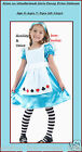 ALICE IN WONDERLAND GIRLS Fancy Dress Costume FAIRY TALE Book Week Outfit
