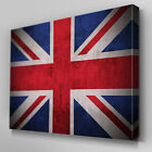 AB118 Union Jack UK Flag Canvas Wall Art Ready to Hang Picture Print Large