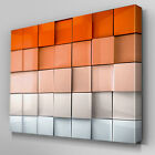 AB325 Orange Abstract Depth Canvas Wall Art Ready to Hang Picture Print