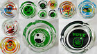 Glass Ashtray GIFT Decorative Thick Herb Leaf Rasta Casino  Smokers x 1