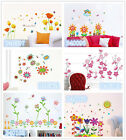 Little flowers Home Room Decor Removable Wall Stickers Decal Decoration