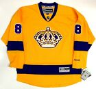 DREW DOUGHTY LOS ANGELES KINGS THROWBACK REEBOK PREMIER NHL JERSEY NEW WITH TAGS