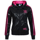 Adidas originals womens black pink Chile 62 full zip polyester track top jacket