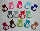 Felt Cat Die Cut Shapes - x4 card making/applique/scrapbook/cats