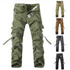 SUMMER Combat Men's Cotton Military Cargo Pants Camouflage ARMY Camo Trousers ++